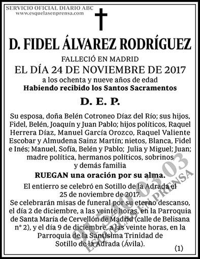 Fidel Álvarez Rodríguez
